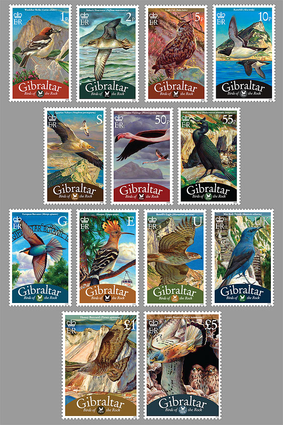 Definitive 2008 'Birds of Gibraltar'