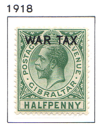 1918 Roi George V WAR TAX