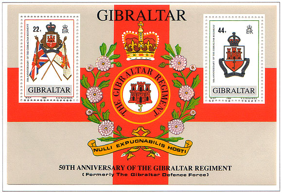 1989 50th Ann. Gibraltar Regiment M/S