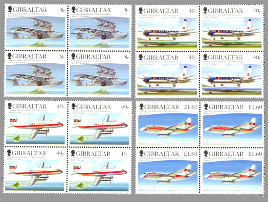Gibraltar Airmail Service 75th Anniversary