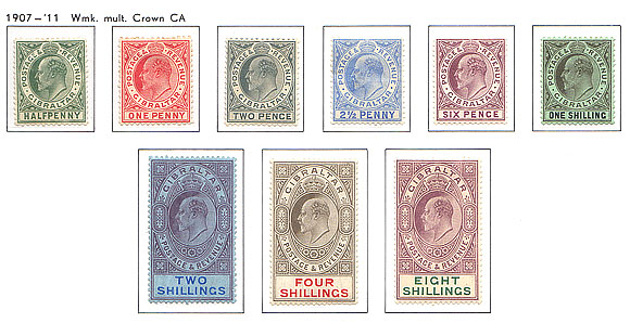 1906 -1912 King Edward VII Complete set