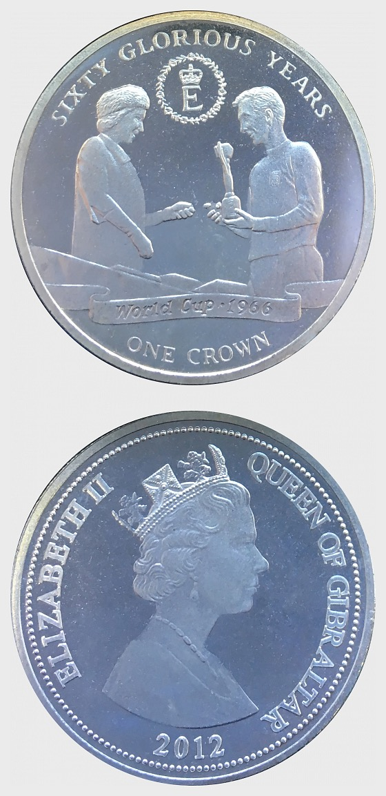 60 Glorious Years Coin 2 Commemorative Gibraltar