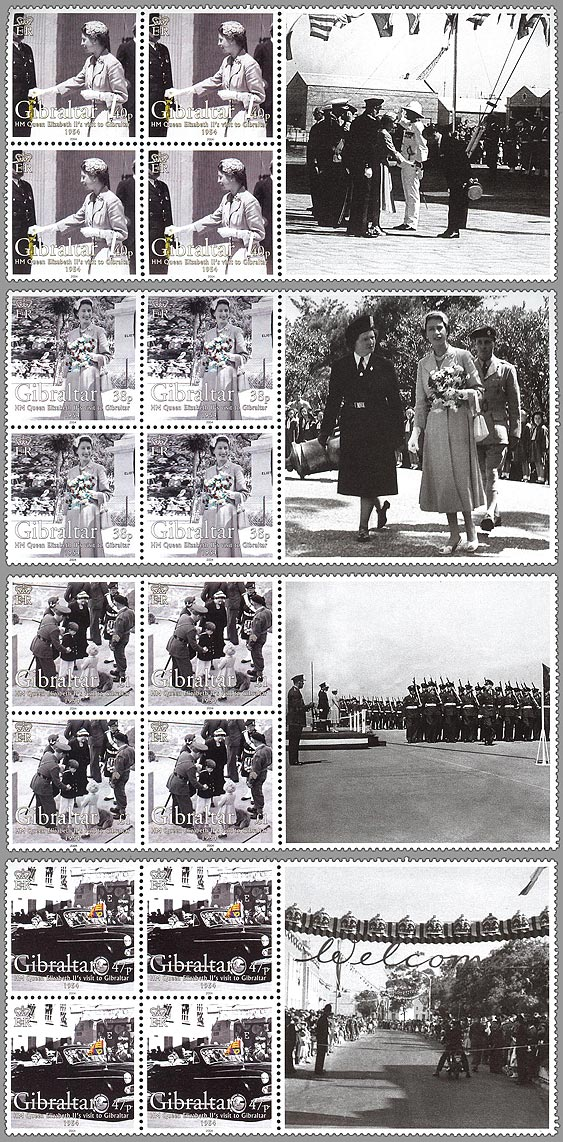HM QE II Royal Visit to Gibraltar 1954