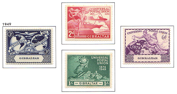 1949 King George VI  75th Ann UPU Set
