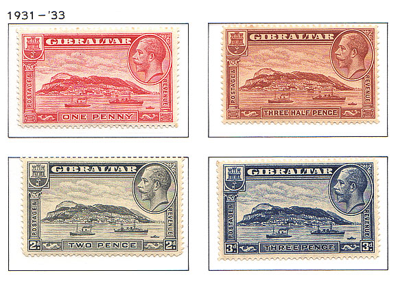 1931 King George V Rock View Set of 4