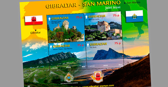 Joint Issue Gibraltar - San Marino