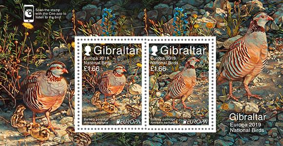 Europa 2019 National Birds | Stamps | 2019 | Gibraltar