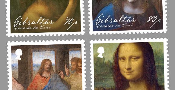 NEW Leonardo Da Vinci | Stamps | 2019 | Gibraltar Philatelic